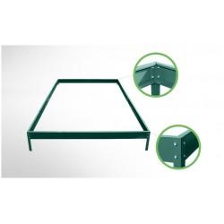Fundament ze stali ocynkowanej w kolorze zielonym