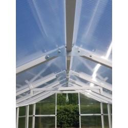 Szczytowe wzmocnienia szklarni ogrodowej 211x405 PVC ze stali.